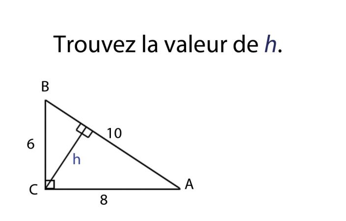 Comment calculer la hauteur d'un triangle ?